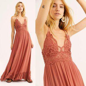 Free People One Adella Maxi Slip Dress Copper $128